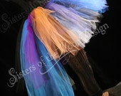Midnight sunset Adult tutu skirt extra poofy party new years roller derby costume goth gypsy-- Small -- READY TO SHIP -- Sisters of the Moo