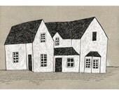 13 x 19 Print of Original Illustration - White House