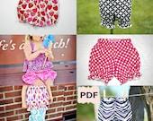 Bloomers Sewing Patternshort and longer version nb-6 girls PDF