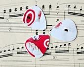 Upcycled plastic cards into Picks for your Ukulele Guitar Mandolin - dog