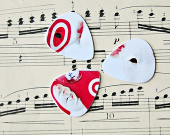 Guitar Picks - recycle Upcycled pick plastic gift cards for your Ukulele Guitar Mandolin - dog