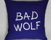 SALE Bad Wolf  Embroidered Pillow Case Cover