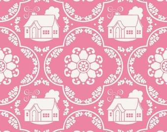 SALE Daisy Cottage Pink Damask