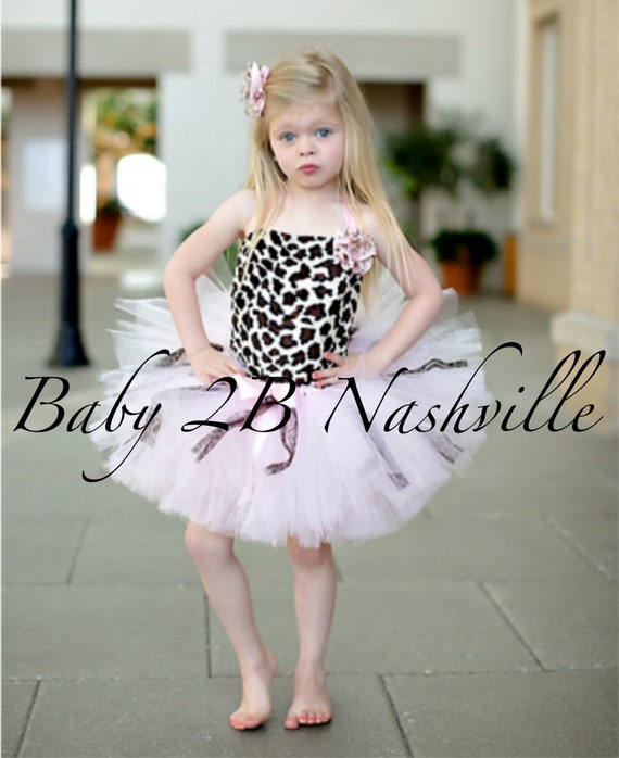 Safari Cheetah Tutu Set Size Baby to 24M Pageant Wear Outfit of Choice