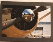 Sea Plane Propellor Photo Card