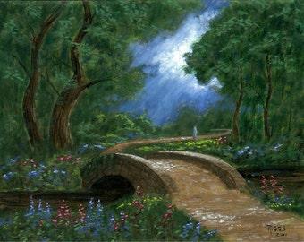 Bridge of Light - 11x14 Acrylic Painting