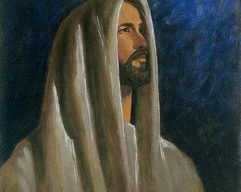 Christ Head Study - 11x14 Acrylic Painting
