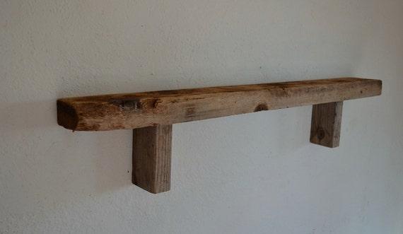 Wood wall shelf  barnwood 34 x 3 x 6
