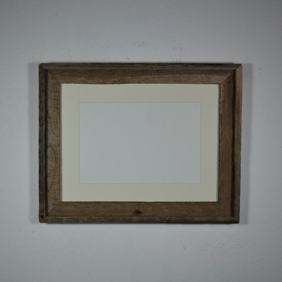 12x16 Picture Frame With Off White 8x12 Mat