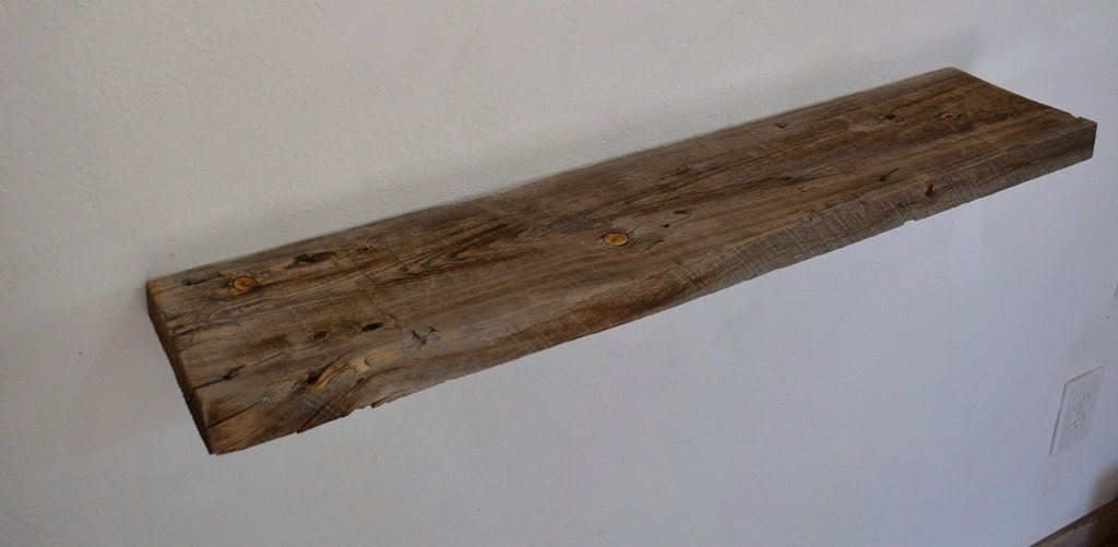 reclaimed wood wall shelf 36 x 8 not too deep or shallow. Black Bedroom Furniture Sets. Home Design Ideas