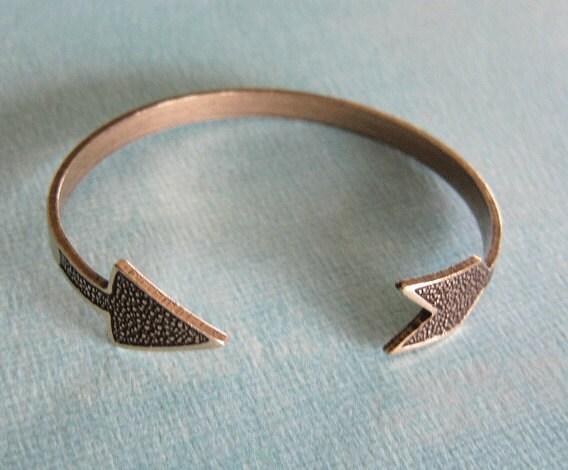 brass arrow bracelet by charmparfait on etsy