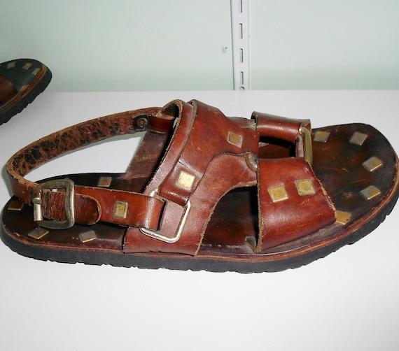 Shop Water Buffalo Men's 'Hippie Jesus' Leather Sandals ... |Hippie Mens Leather Sandals