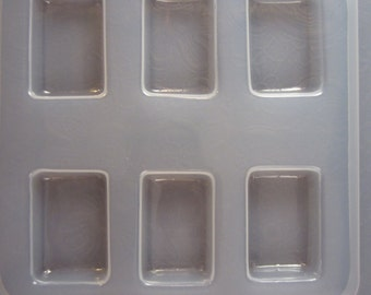 Resin Mold Rectangles 40mm x 27mm Jewelry Pendant