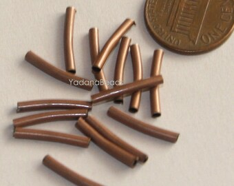 90 pcs of antique copper hollow tube 2x15mm