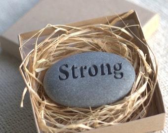 Custom Engraved Pocket Stones - set of 2 customized engraved gift stones