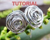 WIRE JEWELRY TUTORIAL - Wire Wrapped Rose Earrings