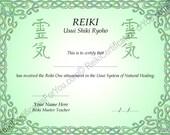 Celtic Knotwork 2 Reiki Certificate Template - Landscape Oriented