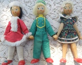 3 Vintage Dolls from Poland