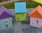 Personalized Family Wood House Miniature Keepsake