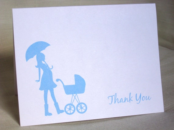 thank you cards stroller baby carriage baby thank yous choose
