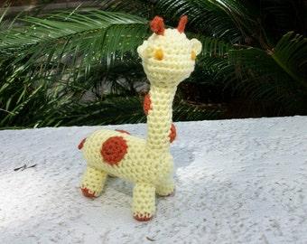 Jellyroll Giraffe-Plush Giraffe-Stuffed Toy Giraffe-Amigurumi Animal-Zoo Animal-Jungle Animal-Toybox Animal-Gift Idea - Ready-to-Ship