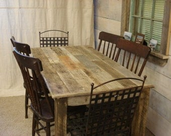 """Driftwood Table (60"""" x 30"""" x 29""""H) with bench (48 x 15 x 17H)"""