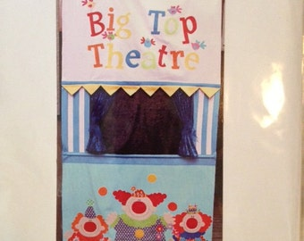 Big Top Theater Pattern   Over the Door Puppet Theater