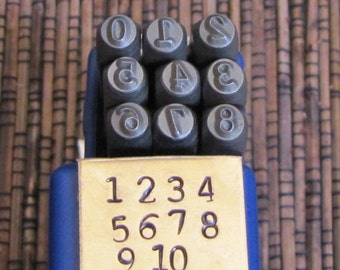 Typewriter number Stamps 3mm type font steel hardened 48-54 rockwell
