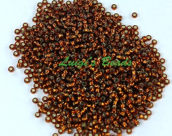 15/0 Round TOHO Glass Seed Beads Silver-Lined Smoky Topaz 10g