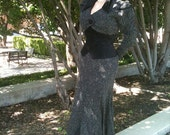 Moulin Rouge 'Grey Wool' Victorian Halloween Costume Cosplay Sample Sale