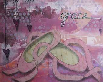 grace - 8 x 10 ORIGINAL COLLAGE by Nancy Lefko