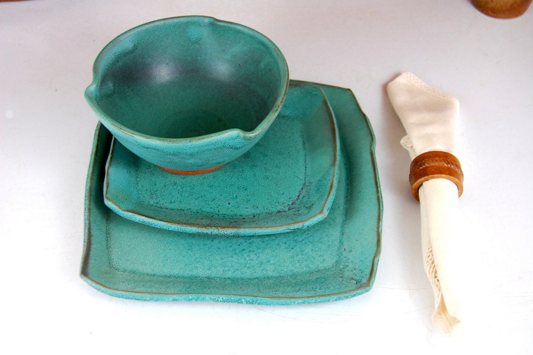 Turquoise Place Setting Made to Order