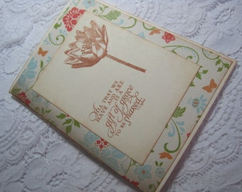 Handmade Greeting Card - Floral Stamped Ogilvie Quote Gift of Grace - Stampin' UP
