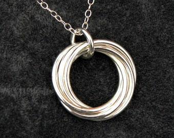 Multi Russian Sterling Silver Pendant