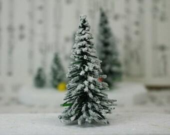 "Snowy Evergreen Tree - 3"" - Set of 3 - 218-0403"