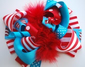 boutique FUNKY fun big CAT HAT hair bow clip