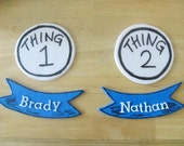 Things 1 & Things 2 Inspired Fondant Cake Toppers