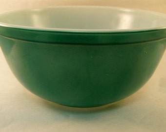 Vintage Pyrex Primary Colors 1950s Green Mixing Nesting Bowl 403