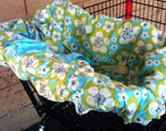 Organic Shopping Cart Cover For Girl You Choose Fabric