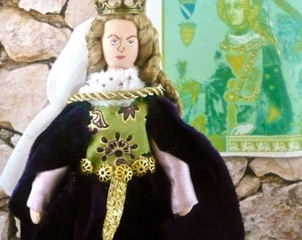 Joan of England Doll Miniature Queen of Sicily Medieval Art Collectible