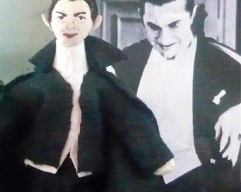 Dracula Doll Miniature Art Collectible Gothic Art