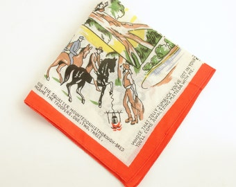 Vintage Hankie Handkerchief Waltzing Matilda Australia