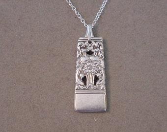 Spoon Jewelry Necklace 1936 CORONATION Vintage SILVER SPOON Pendant Necklace - Silverware Jewelry