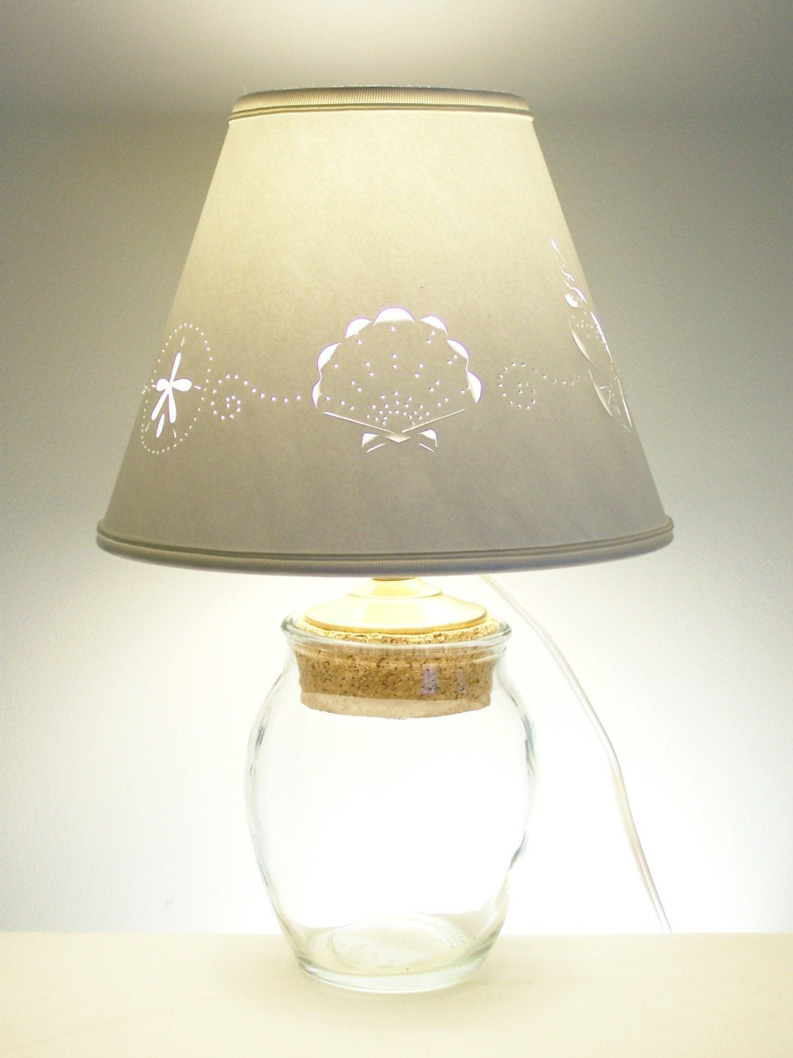 small fillable glass lamp. Black Bedroom Furniture Sets. Home Design Ideas