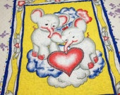 Lovely Elephants Baby Blanket