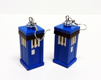 Custom Doctor Who Tardis Earrings