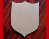 Unfinished Mdf Wood Shield Blank Family Crest Mosaic Base Craft Shape 1/4 Inch Thick