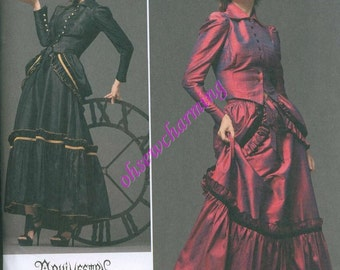 Steam Punk Arkivestry Sewing Pattern Simplicity 2207 Sizes 6-8-10-12 Bustled Skirt Dress