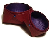 Red  & Purple Leather Trinket Bowls