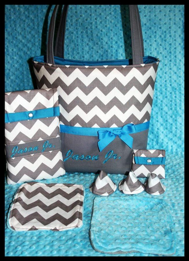 personalized baby boy diaper bag by littlemistersister on etsy. Black Bedroom Furniture Sets. Home Design Ideas